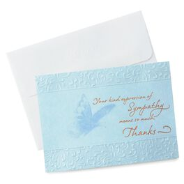 Blue Butterfly Sympathy Thank You Notes, Pack of 10, , large