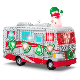 Crazy Christmas Camper Ornament With Lights and Sound, , large