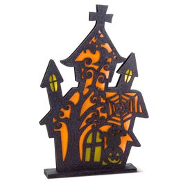 Light-Up Graveyard Scene Decoration, , large