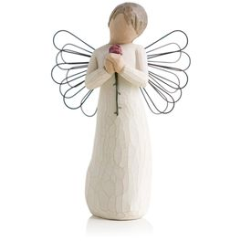Willow Tree® Loving Angel Red Rose Figurine, , large