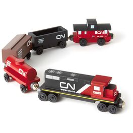 Canadian National Freight Wooden Train Set, , large