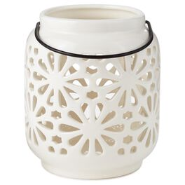 Lights in Bloom Cream Lantern, , large