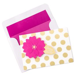 Flower and Dot Note Card, , large