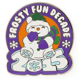 Frosty Fun Decade Lapel Pin, , large