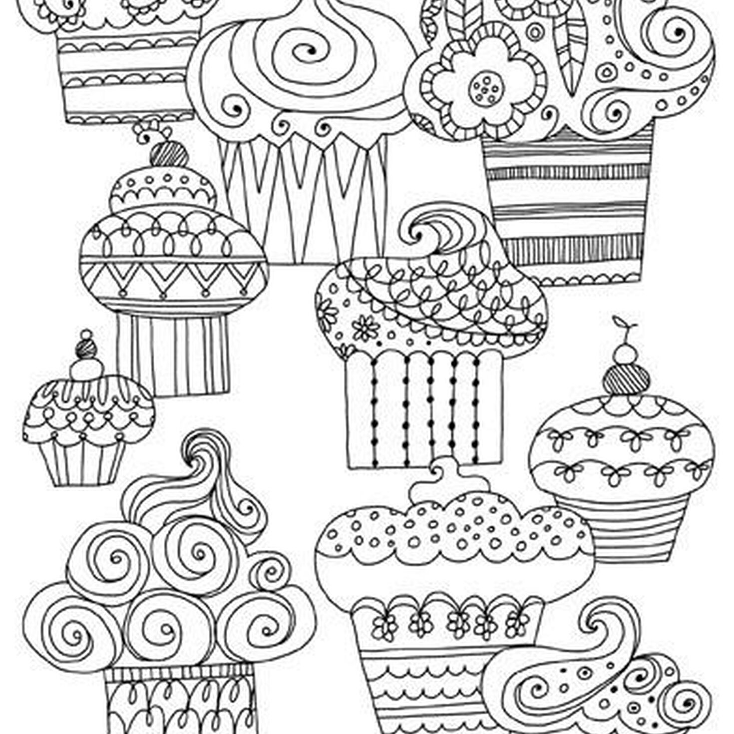 Sweet treats just because coloring card greeting cards for Sweet treats coloring pages
