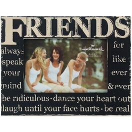 Friends Distressed Wood Picture Frame, 4x6, , large