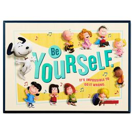 Peanuts® Be Yourself Wood Plaque, , large