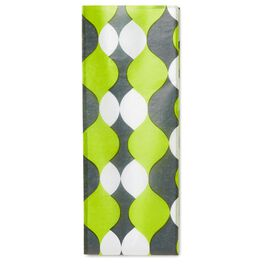 Chartreuse Wave Tissue Paper, , large