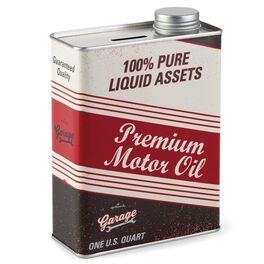 Hallmark Garage Oil Can Tin Bank, , large