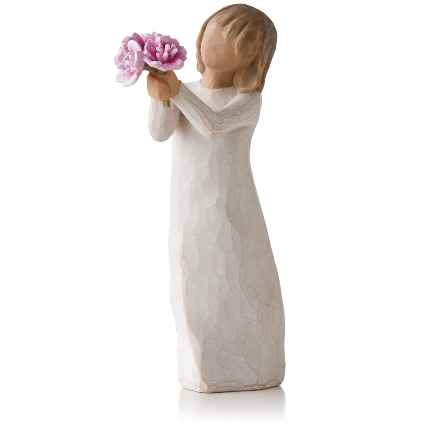 willow tree pink peonies thank you flowers figurine. Black Bedroom Furniture Sets. Home Design Ideas