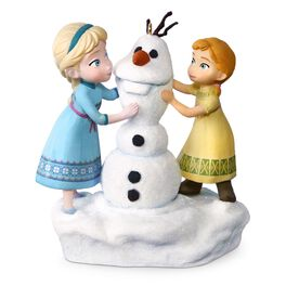 Disney Frozen Anna and Elsa Build a Snowman Musical Ornament, , large