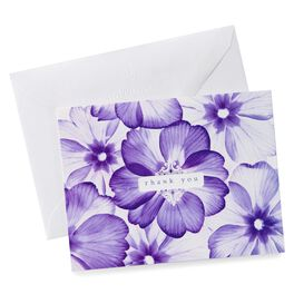 Note Thank You Photo Purple Floral, , large