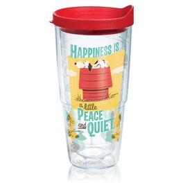 Peanuts® Happiness Is a Little Peace and Quiet Tumbler with Lid, , large