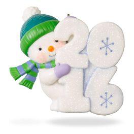 Frosty Fun Decade Peek-A-Boo Ornament, , large