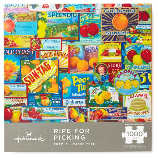 Ripe for Picking Vintage Fruit Labels 1000-Piece Jigsaw Puzzle