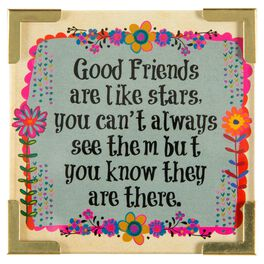 Natural Life Corner Magnet Good Friends Are Stars, , large