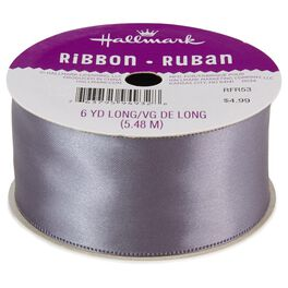 "Steel Gray 1.5"" Satin Ribbon, , large"