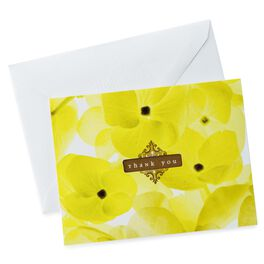 Note Thank You Photo Yellow Floral, , large