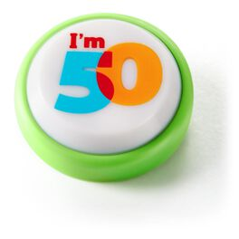 50th Birthday Mini Sound Button with Light, , large