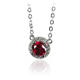 Birthstone Necklace, July Ruby, large