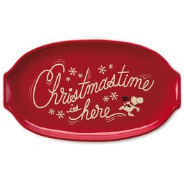 """Peanuts® """"Christmastime Is Here"""" Serving Platter, , large"""
