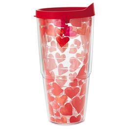 Watercolor Hearts 24-oz Tervis® Tumbler with Lid, , large