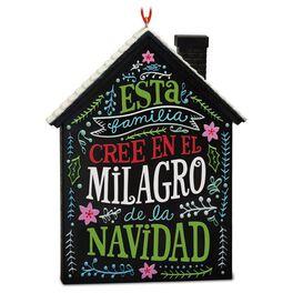 El Milagro de la Navidad Holiday House Ornament, , large