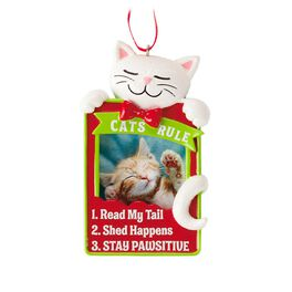 Cats Rule Photo Holder Ornament, , large