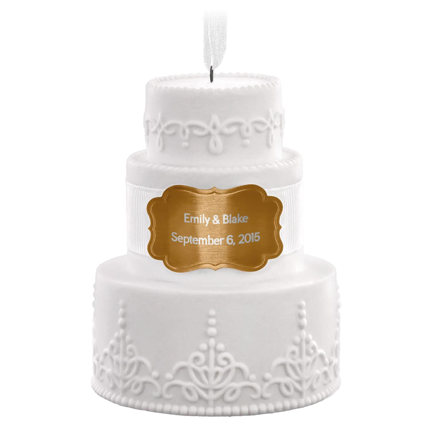 Wedding Cake Personalized Ornament - Personalized ...
