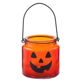 Small Glass Jack-o'-Lantern Decoration, , large