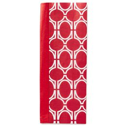 Solid Cherry Red and Red Geometric Pattern Dual-Pack Tissue Paper, , large
