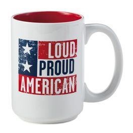 Loud Proud American Ceramic Mug, , large