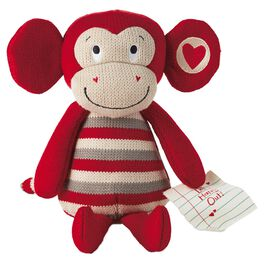 Morgan the Monkey Knitted Stuffed Animal, , large