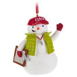 Coach Snowman Ornament, , large