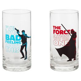 Star Wars™ Han Solo™ and Darth Vader™ Glass Tumblers—Set of 2, , large
