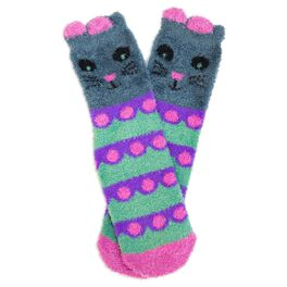 Natural Life Cozy Socks Cat, , large