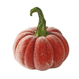 Small Beaded Glass Pumpkin, , large