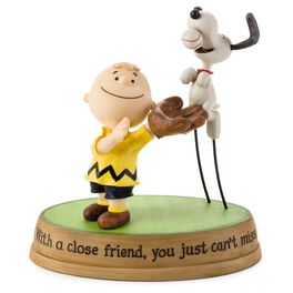Peanuts® Charlie Brown and Snoopy Playing Catch Figurine, , large