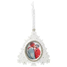 Our First Christmas Together Christmas Tree Photo Holder Ornament, , large