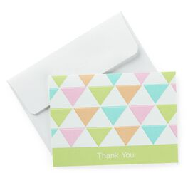 Multicolored Triangles Baby Thank You Notes, , large