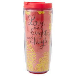 Love and Laughter Insulated Travel Mug, , large