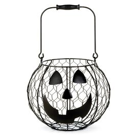 Jack-o'-Lantern Wire Basket, , large