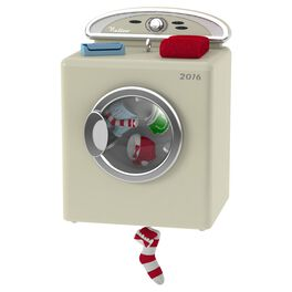 Santa's Dandy Dryer Ornament With Light and Motion, , large