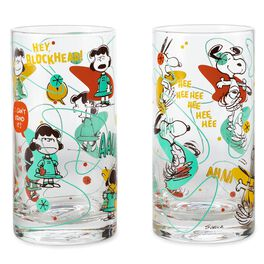 Peanuts® Lucy and Snoopy Glass Tumbler Set of 2, , large