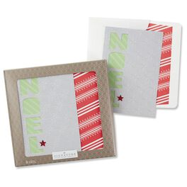 Hallmark Signature Collection Green NOEL on Silver Boxed Christmas Cards, , large