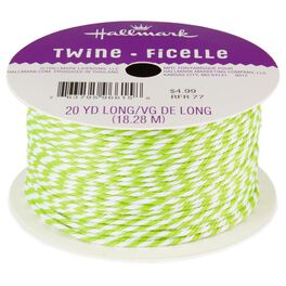 Chartreuse Baker's Twine Ribbon, , large