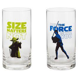 Star Wars™ Yoda™ and Luke Skywalker™ Glass Tumblers—Set of 2, , large