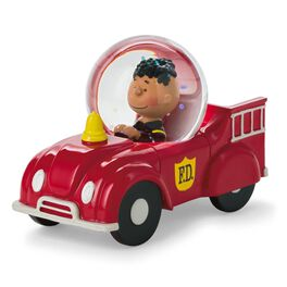 Peanuts®  Franklin in Fire Engine Water Globe, , large