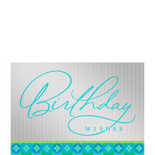 Turquoise Birthday Lettering