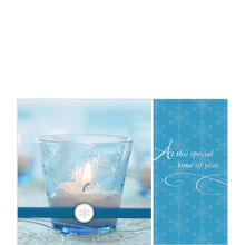 Candle and Snowflakes